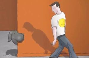 走出抑郁漫画:我有一条黑狗,它名叫抑郁!